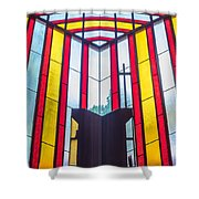 Stained Glass Reminder Shower Curtain