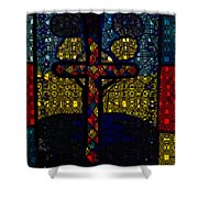 Stained Glass Reworked Shower Curtain