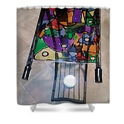 Stained Glass Sofa Table Shower Curtain