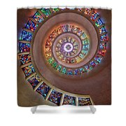 Stained Glass Spiral Shower Curtain
