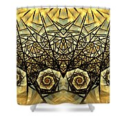Stained Glass Summer Shower Curtain
