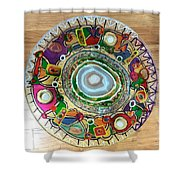 Stained Glass Table Top Shower Curtain