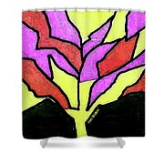 Tree - Stained Glass Watercolor Shower Curtain