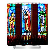Stained Glass Triptych Shower Curtain