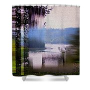 Stained Glass View Shower Curtain