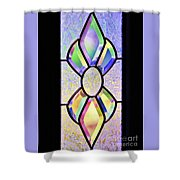 Stained Glass Watercolor Shower Curtain