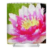 Stained Glass Waterlily Shower Curtain