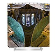Stained Glass-window Reflection Shower Curtain
