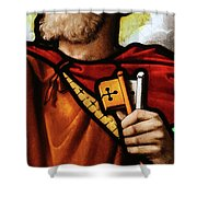 Stained Glass Window, St Peter Shower Curtain
