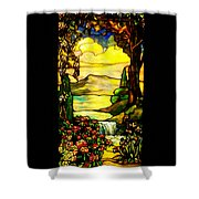 Stained Landscape Shower Curtain