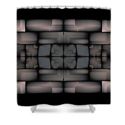Stained Tile Tapestry Shower Curtain