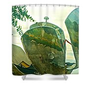 Stainless Steel Sculpture Called First Flower In Buenos Aires-argentina  Shower Curtain