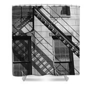 Stair Shadows Shower Curtain