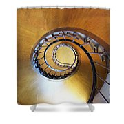 Staircase At Azay Le Rideau Shower Curtain