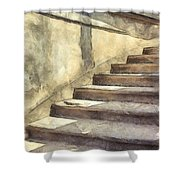 Staircase At Pitti Palace Florence Pencil Shower Curtain
