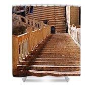 Staircase At Scala Della Ragione - Verona Italy Shower Curtain