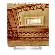 Staircase In Brown Shower Curtain