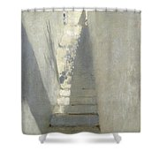 Staircase In Capri Shower Curtain