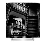 Staircase In Swannanoa Mansion Shower Curtain