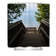 Staircase Of Tranquility Shower Curtain