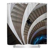Stairs  Bruininks Hall University Of Minnesota Campus Shower Curtain