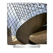 Stairs In Louvre Museum. Paris.  Shower Curtain