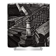 Stairs In The Markethall  Shower Curtain