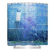 Stairs To Blue Shower Curtain