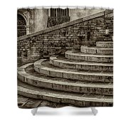 Stairs To Canal Bridge Venice_dsc1637_03012017  Shower Curtain