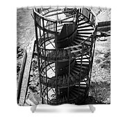 Stairs To Nowhere In Pismo Beach Shower Curtain by Priya Ghose