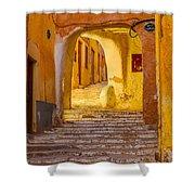 Stairway Inside Beni Isguen Shower Curtain