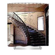 Stairway -  Meade Hotel - Bannack Mt Shower Curtain