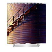 Stairway Abstraction Shower Curtain