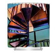 Stairway Bright Shower Curtain