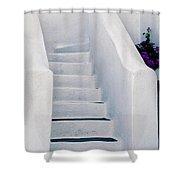 Stairway In Mykonos Shower Curtain