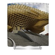 Stairway Leading Up To Metropol Parasol In The Plaza Of The Inca Shower Curtain
