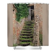 Stairway Less Traveled Shower Curtain