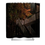 Stairway To Autumn Leaves Shower Curtain