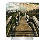 Stairway To Beach Shower Curtain