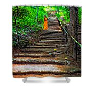 Stairway To Heaven Impasto Shower Curtain