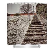 Stairway To Spring Shower Curtain