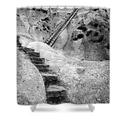 Stairways To The Kiva Shower Curtain
