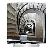 Stairwell In Presidente Hotel  Shower Curtain