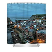 Staithes Evening Shower Curtain
