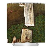 Stalacites And Stalagmites In A Cave Shower Curtain