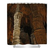 Stalacmites In Luray Caverns Va  Shower Curtain
