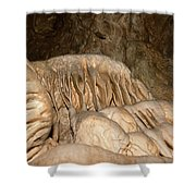 Stalactite Formation In Karst Cave Shower Curtain