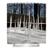 Stalagmite Icicles Shower Curtain