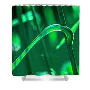 Stalks And Leaves Shower Curtain