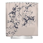 Stallions Inc. Shower Curtain